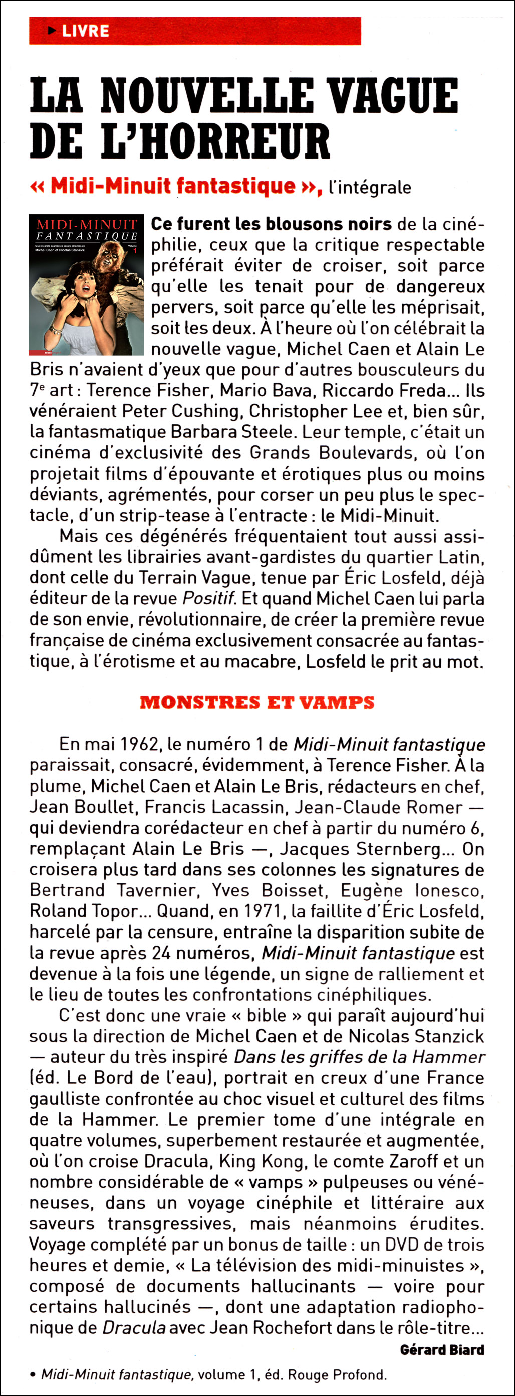 Midi-Minuit Fantastique Intégrale Vol.1, dans Charlie Hebdo, 19 février