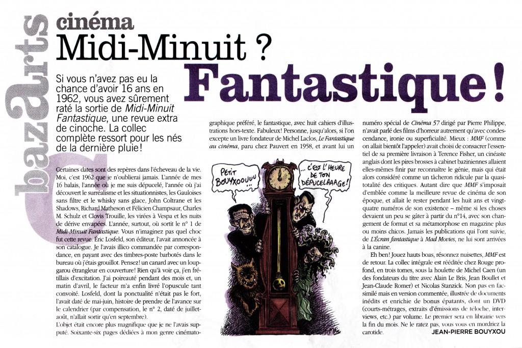 Midi-Minuit Fantastique Intégrale Vol.1, dans Siné Hebdo, septembre 2012