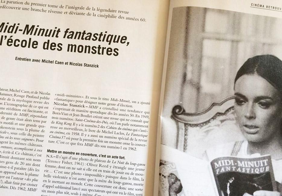 Midi-Minuit Fantastique dans les Cahiers du cinéma Mars 2014