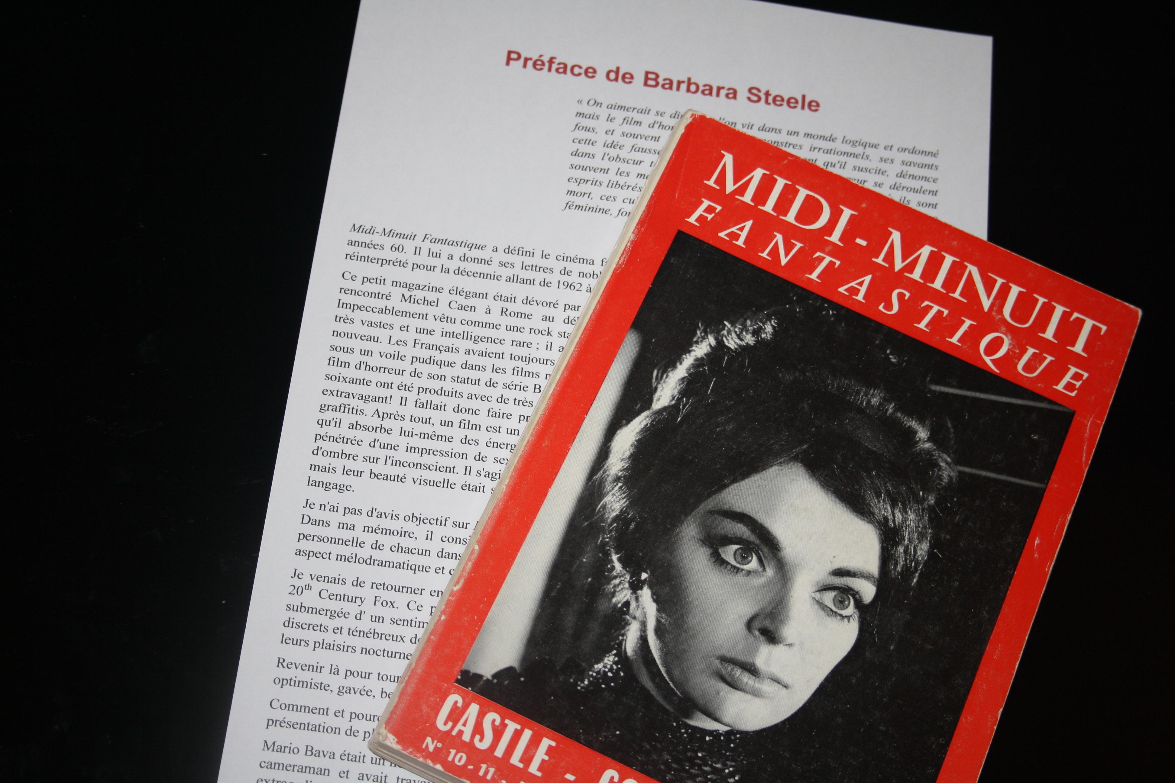 Barbara Steele préface le volume II de l'intégrale Midi-Minuit Fantastique - Nicolas Stanzick